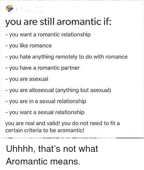 Aromantic asexual relationships
