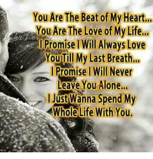You Are The Beat Of My Heart You Are The Love Of My Lifea Promise I