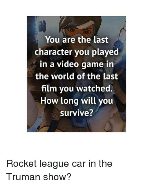 You Are The Last Character You Played In A Video Game In The World