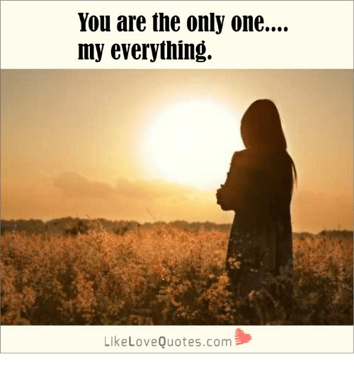 You Are The Only One My Everything Likelovequotescom Meme On Me Me