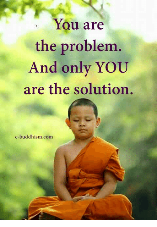 Memes, Buddhism, and 🤖: You are  the problem.  And only YOU  are the solution.  e-buddhism coma