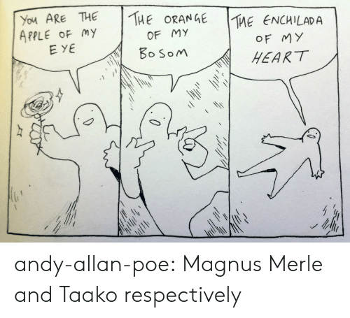 Apple, Target, and Tumblr: You ARE THE THEORANGE  APPLE OF my  TME ENG  |The eNCHLADA  OF MY  HEART  OF MY  EYE  oSoM andy-allan-poe: Magnus Merle and Taako respectively