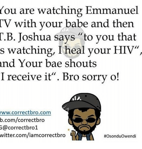 You Are Watching Emmanuel TV With Your Babe and Then T B