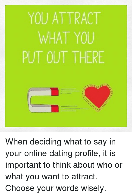 What to say on your online dating profile