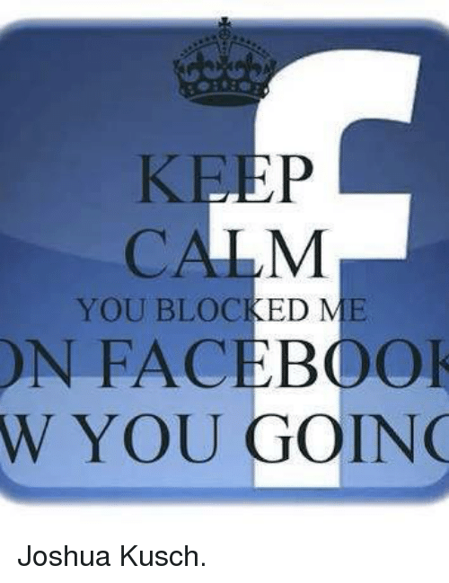 how to know who blocked me in facebook