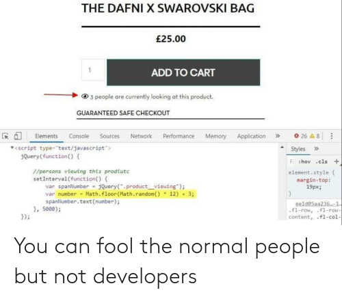 Can, You, and Normal: You can fool the normal people but not developers