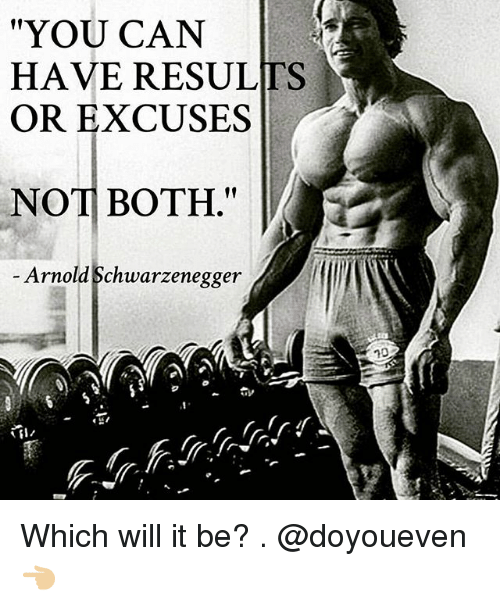 you can have results or excuses not both e arnold 186387 ✅ 25 best memes about arnold schwarzenegger arnold,Arnold Meme