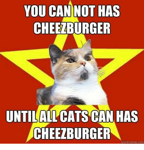 you can not has cheezburger untilallcats can has cheezburger quickmeme 20940092 i can has cheezburger what's the oldest meme that stands a chance,Cheezburger Memes