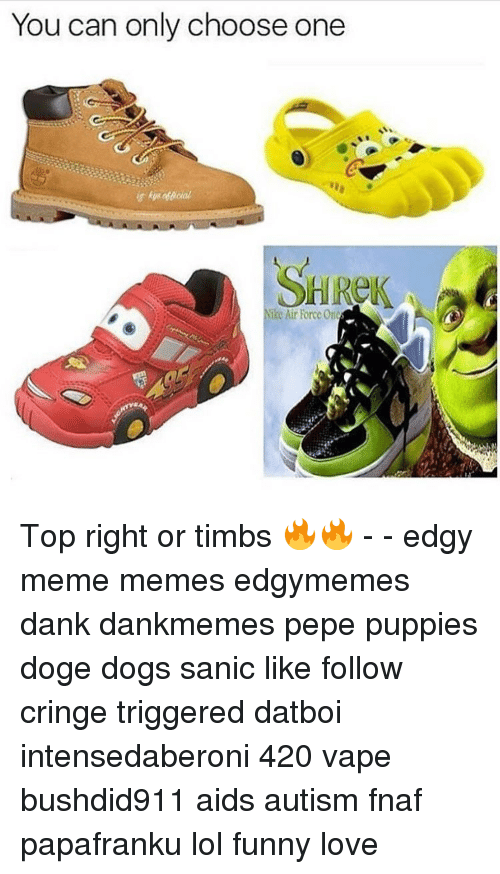 Choose One, Memes, and Nike: You can only choose one SHRek Nike Air