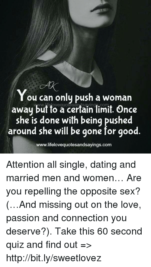 Dating married women only