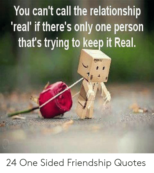 You Can\'t Call the Relationship \'Real\' if There\'s Only One ...