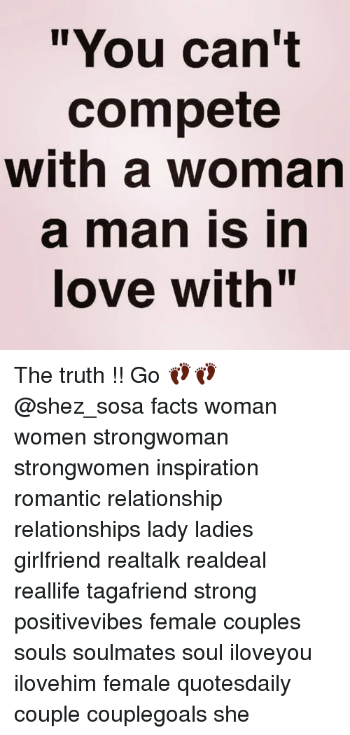 a man in love with a woman