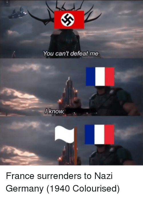 France, Germany, and You: You can't defeat me  I know, France surrenders to Nazi Germany (1940 Colourised)