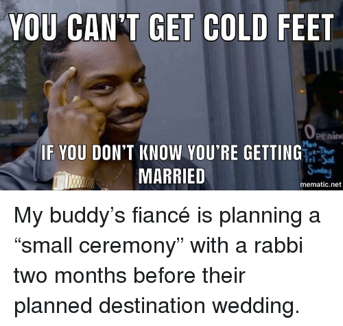my fiance is getting cold feet