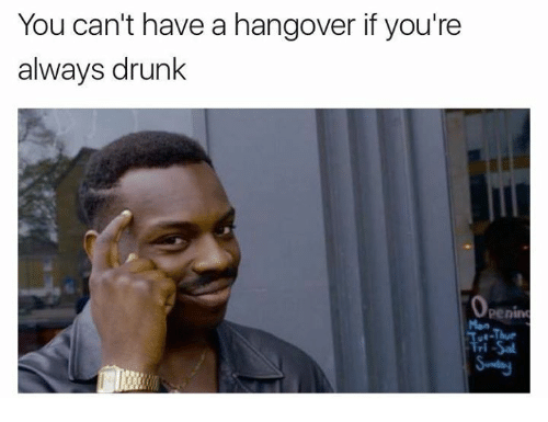 Funny Drunk Meme Pictures : You can't have a hangover ifyou're always drunk meme on me.me