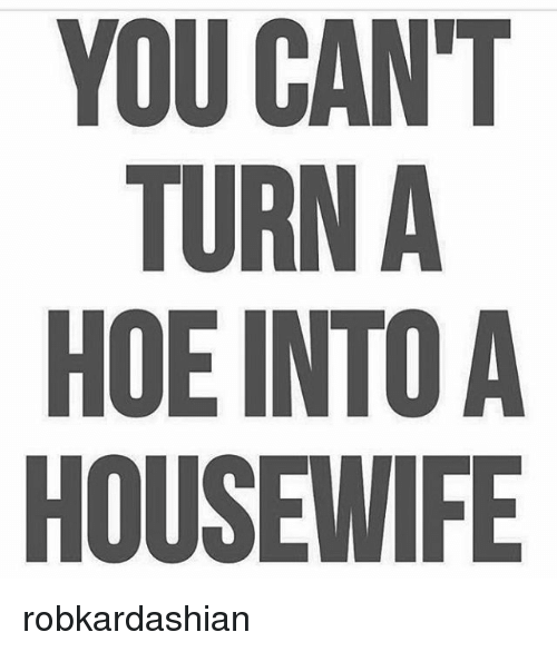 YOU CAN\'T TURN a HOE INTO a HOUSEWIFE Robkardashian | Hoe ...