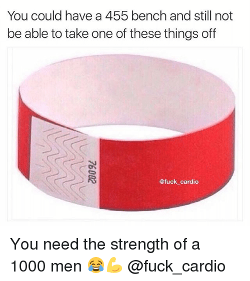 Gym, Fuck, and One: You could have a 455 bench and still not  be able to take one of these things off  @fuck cardio You need the strength of a 1000 men 😂💪 @fuck_cardio