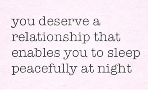 what you deserve in a relationship