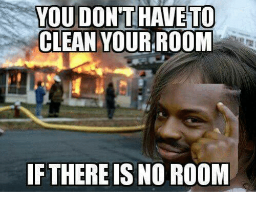 how to clean out your room