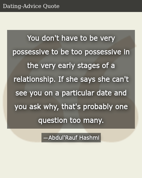 You Don't Have to Be Very Possessive to Be Too Possessive in the