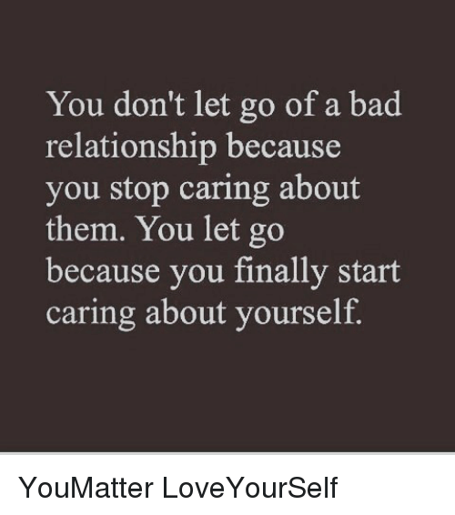when you stop caring in a relationship
