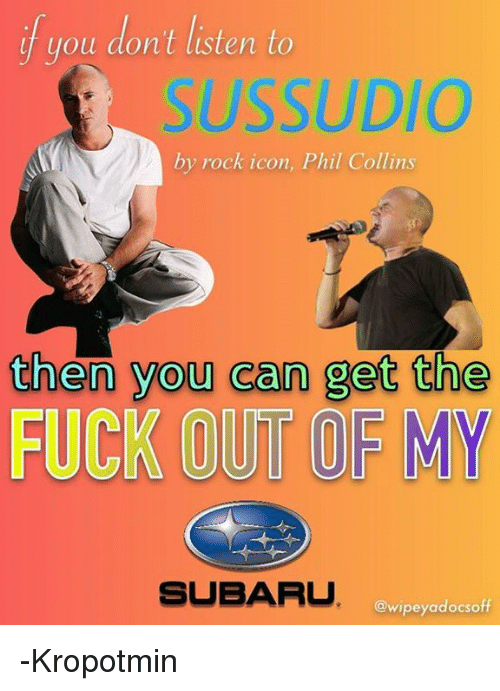 You Dont Listen To Sussudio By Rock Icon Phil Collins Then You Can