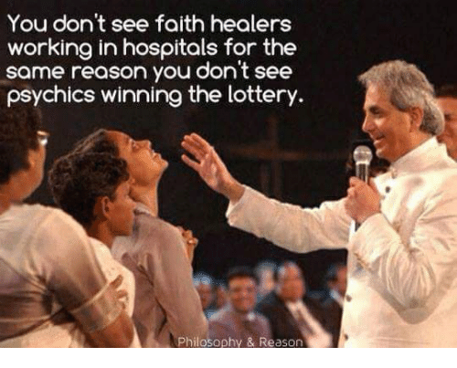 You Don't See Faith Healers Working in Hospitals for the