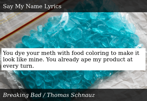 You Dye Your Meth With Food Coloring to Make It Look Like ...