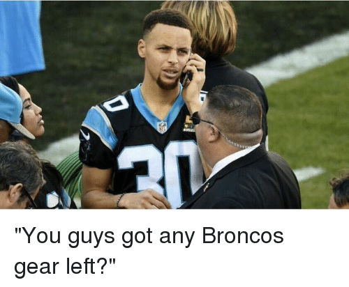 """Blackpeopletwitter and Broncos: """"You guys got any Broncos gear left?"""""""