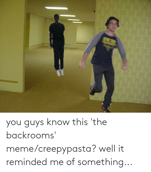 You Guys Know This 'The Backrooms' Memecreepypasta? Well ...