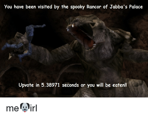 You Have Been Visited by the Spooky Rancor of Jabba's Palace