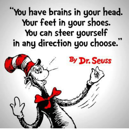 Image result for DR SEUSS YOU HAVE BRAINS