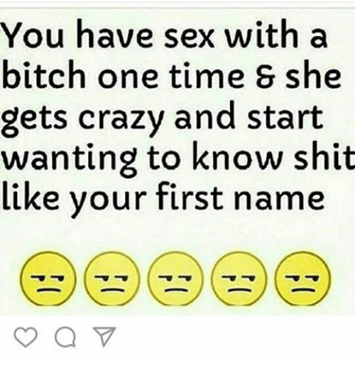 When to have sex with bitch