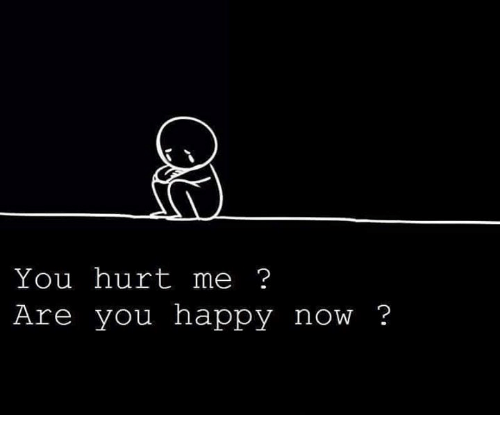 You Hurt Me Are You Happy Now Meme On Meme