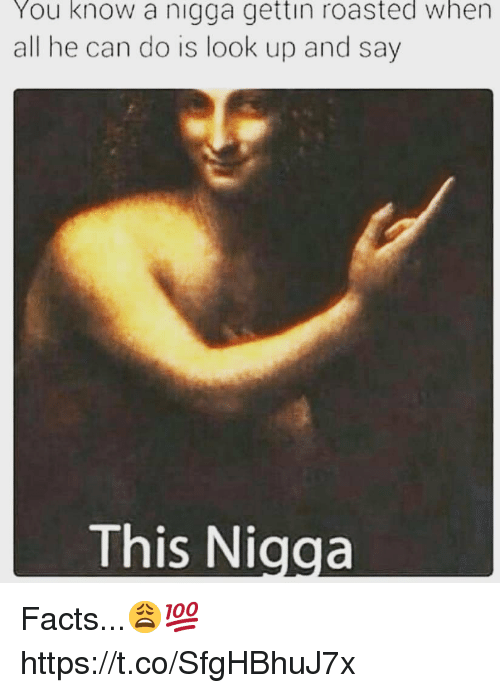 Facts, Can, and All: You know a nigga gettin roasted when  all he can do is look up and say  This Nigga Facts...😩💯 https://t.co/SfgHBhuJ7x
