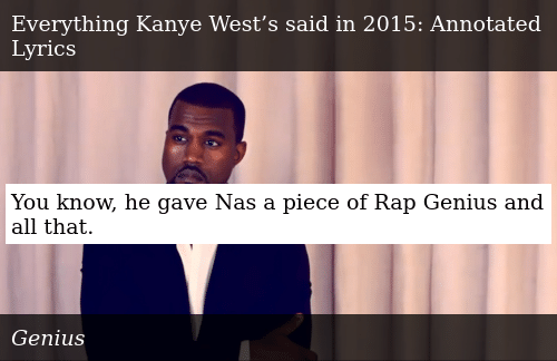 You Know He Gave Nas a Piece of Rap Genius and All That
