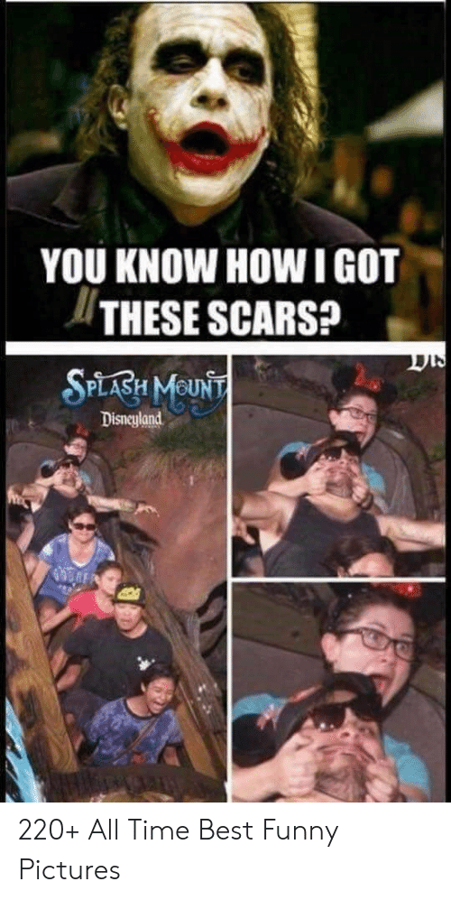 Disneyland, Funny, and Best: YOU KNOW HOW IGOT  THESE SCARS?  SPLABH MOUNT  Disneyland 220+ All Time Best Funny Pictures