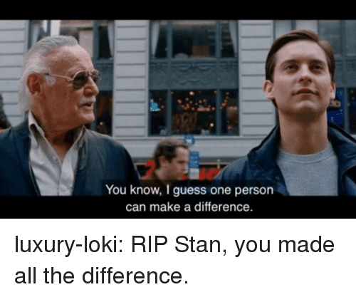 Stan, Target, and Tumblr: You know, I guess one person  can make a difference. luxury-loki:  RIP Stan, you made all the difference.