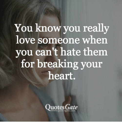 You Know You Really Love Someone When You Cant Hate Them For