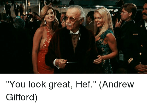 "Memes, 🤖, and You: ""You look great, Hef.""  (Andrew Gifford)"