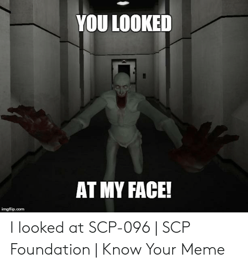 YOU LOOKED AT MY FACE! Imgflipcom I Looked at SCP-096 | SCP