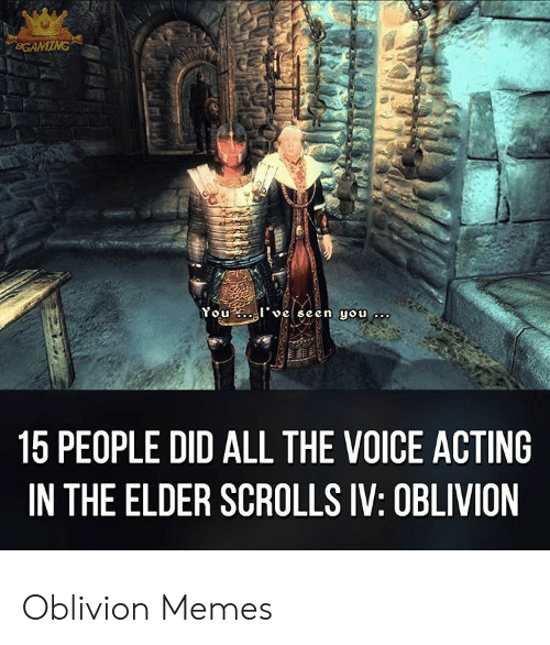 You L Veseen You 15 People Did All The Voice Acting In The Elder