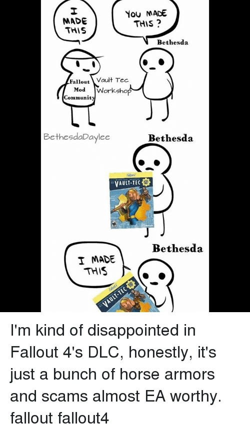 Community Disointed And Horses You Made This Bethesda Fallout Vault Tec