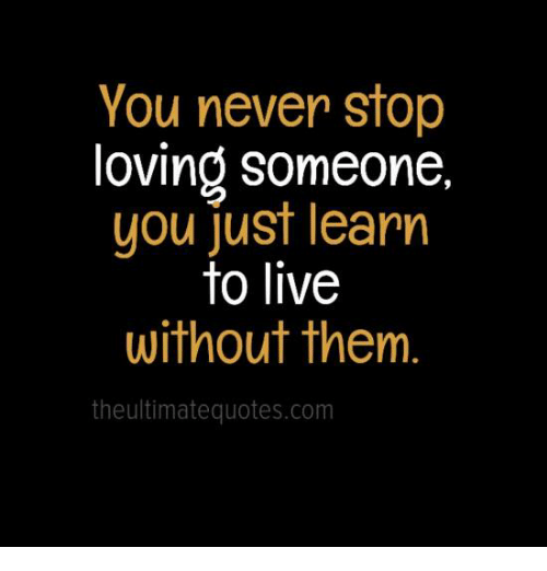Learning to live without u quotes