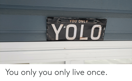 Yolo, Live, and Ddoi : YOU ONLY  YOLO You only you only live once.