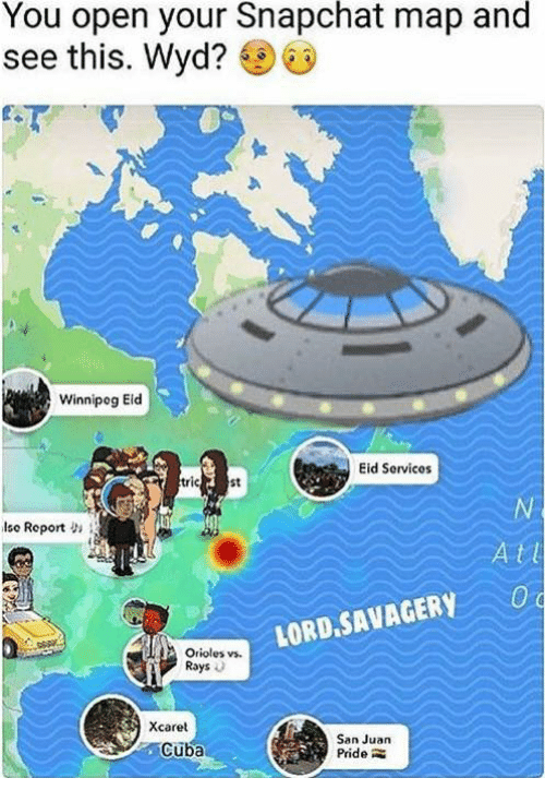 You Open Your Snapchat Map and See This Wyd? Winnipog Eid