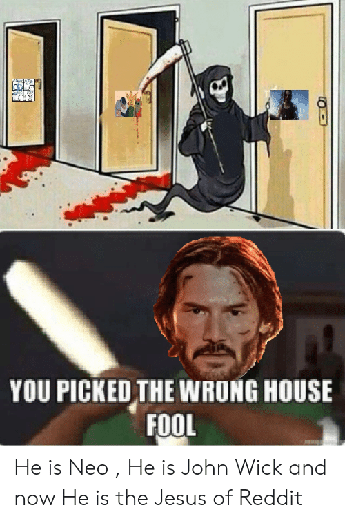 YOU PICKED THE WRONG HOUSE FOOL He Is Neo He Is John Wick