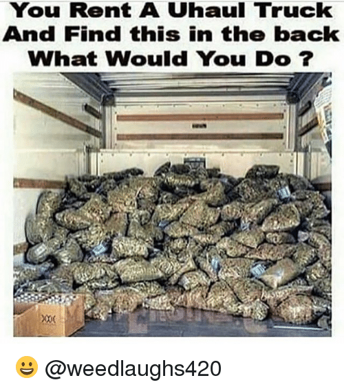Memes, Back, and 🤖: You Rent A Uhaul Truck  And Find this in the back  What Would You Do? 😀 @weedlaughs420