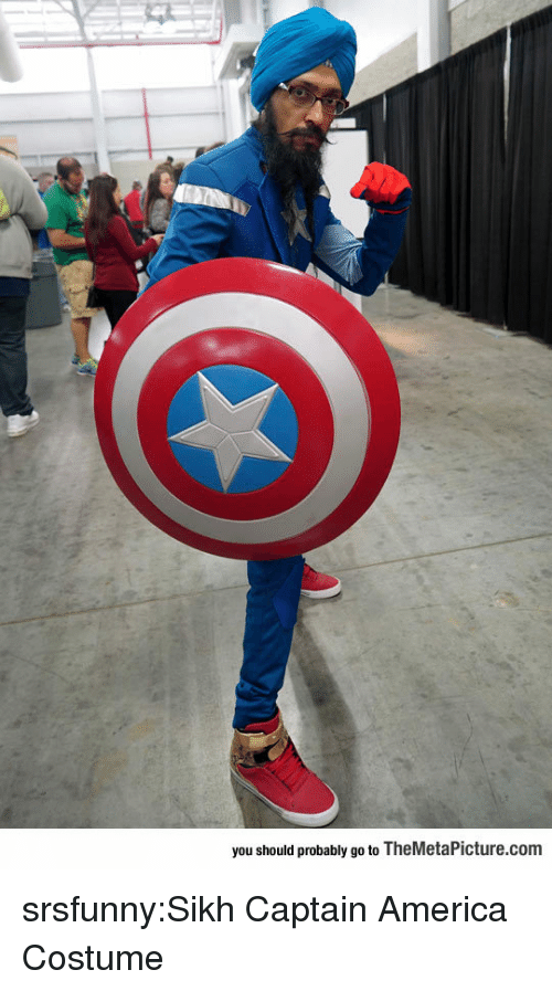America, Tumblr, and Blog: you should probably go to TheMetaPicture.com srsfunny:Sikh Captain America Costume