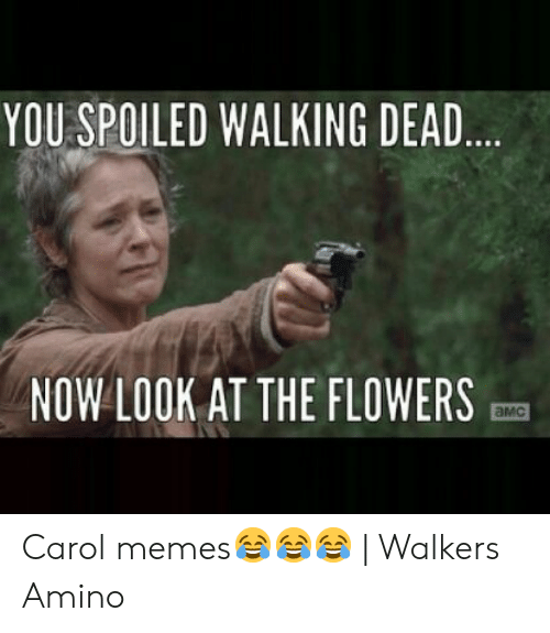 YOU SPOILED WALKING DEAD NOW LOOK AT THE FLOWERS aMc Carol